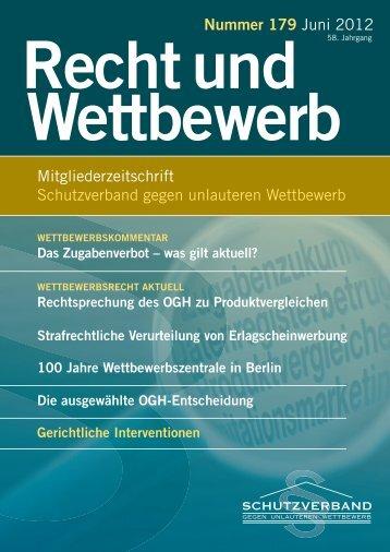 Gerichtliche Interventionen - Schutzverband gegen den unlauteren ...