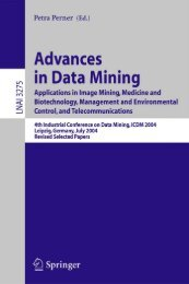 Advances in Data Mining, Applications in Image Mining