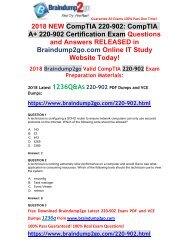 [2018-July-Version]New Braindump2go 220-902 Dumps with PDF and VCE Free Share(1-15)