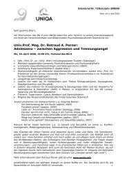 Univ.Prof. Mag. Dr. Rotraud A. Perner: Adoleszenz ... - Bg9.at