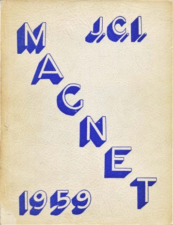 1959 Jarvis Collegiate Institute - Magnet Yearbook