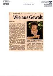 FRIEDENSGEIST Rotraud A. Perner im Interview - Halt! Gewalt!