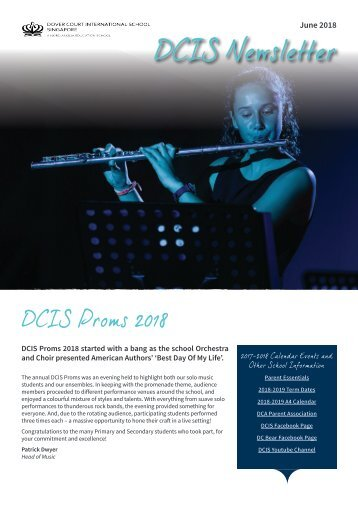 DCIS Newsletter June 2018