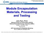 Module Encapsulation Materials, Processing and Testing ... - NREL
