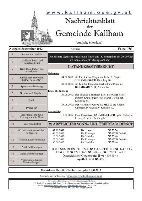PGR - Pfarre-Kallham