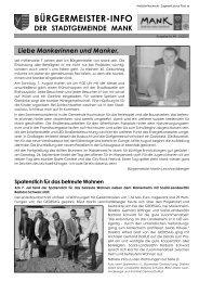 Bürgermeister-Info August 2011 (5,35 MB) - Stadtgemeinde Mank