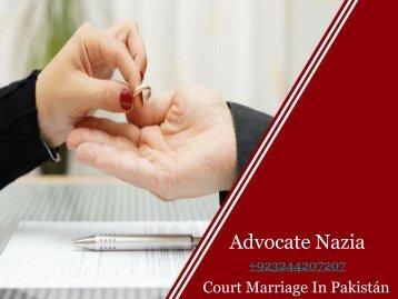 Court Marriage procedure in pakistan
