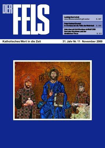 November 2000 - Der Fels