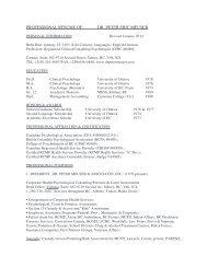 Professional Resume - Meuser Peter Dr