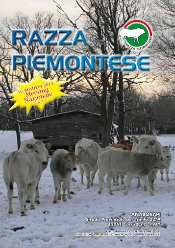 2011 - Associazione Nazionale Allevatori Bovini di razza piemontese