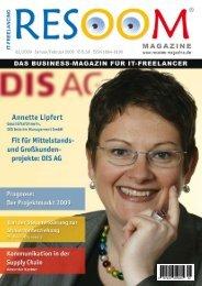 (Jan/Feb 2009) Titelfoto - Resoom Magazine