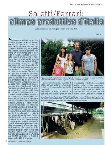 Saletti/Ferrari: olimpo produttivo d'Italia - Anafi