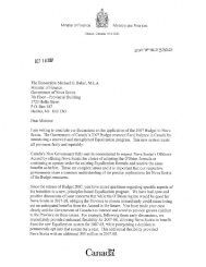 Letter from the Honourable James M. Flaherty. P.C. - Peter MacKay