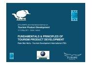 fundamentals & principles of tourism product development