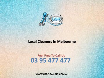 Local Cleaners In Melbourne