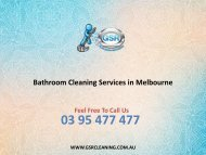 Bathroom Cleaning Services in Melbourne