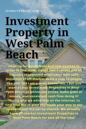 Investment Property in West Palm Beach