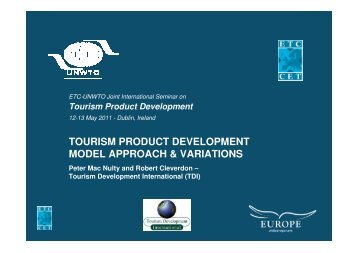 Tourism Product Development - Model Approach & Variations