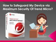How to Safeguard My Device via Maximum Security Of Trend Micro?