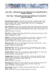 Peter Mayr – Bibliografie aus den Beständen der Landesbibliothek ...