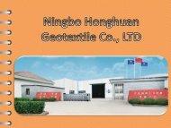 Geotextile Tubes at Ningbo Honghuan Geotextile