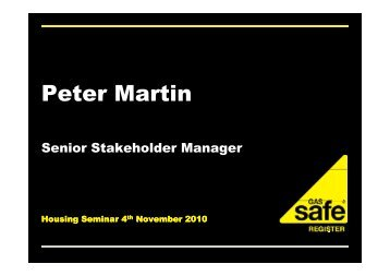 Gas Safety - Peter Martin
