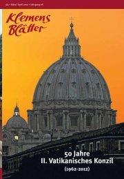 50 Jahre II. Vatikanisches Konzil - redemptoristen
