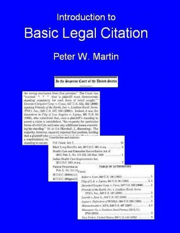 Introduction to Basic Legal Citation - access-to-law home