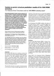 Update on protein structure prediction: results of ... - The Barton Group