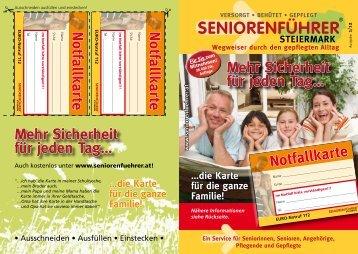 Sicherheit für jeden Tag… - Steirischer Seniorenführer