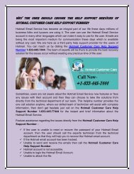 Hotmail Customer Care 1-833-445-7444 support phone number