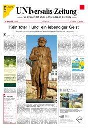 UNIversalis-Zeitung Sommersemester 2018
