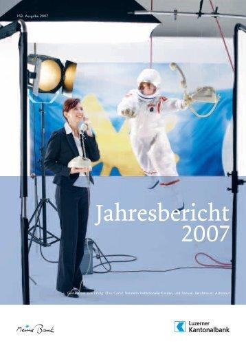 Jahresbericht 2007 - Kantonalbanken