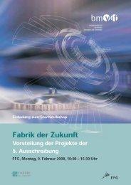 Ziele und Inhalt - Fabrik der Zukunft
