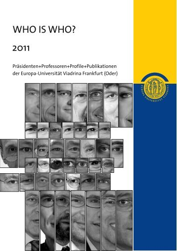 Präsidenten, Professoren, Profile, Publikationen (pdf - Europa ...