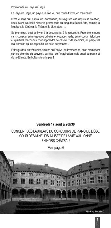 Programme Festival de promenade