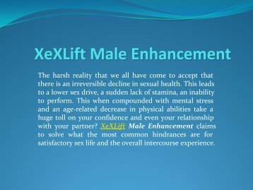 Xexlift Male Enhancement - So Simple