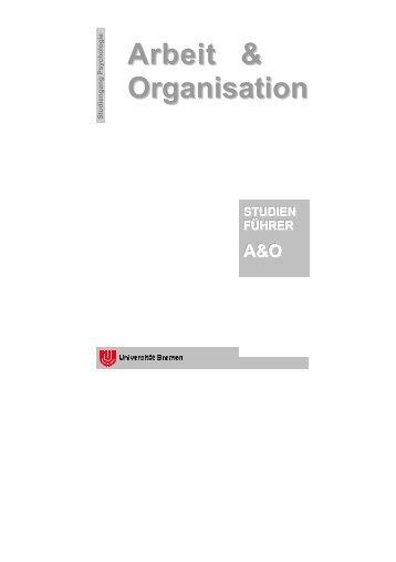 Studiengang Psychologie - A&O-Netzwerk-Bremen - Universität ...