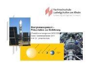 Energiemanagement – Präsentation zur Einführung