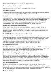 Datenschutzerklärung für Facebooksite AHE