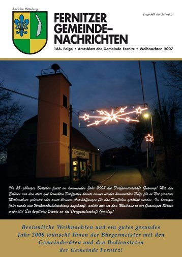 Fernitzer Gemeinde Nachrichten WEIHNACHTEN 2007 (5,64 MB