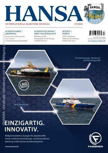 HANSA International Maritime Journal |Juli 2018