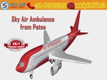 Receive Air Ambulance from Patna at Any-time by Sky Air Ambulance