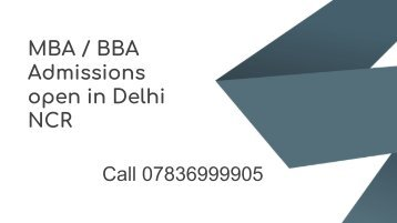 MBA Admissions in Delhi NCR