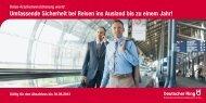 Umfassende Sicherheit bei Reisen ins Ausland bis ... - Deutscher Ring