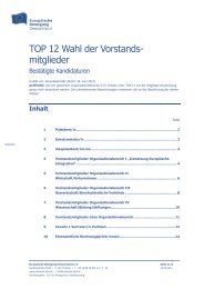 TOP 12 Wahl der Vorstandsmitglieder - Netzwerk Europäische ...
