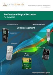 Professional Digital Dictation Portfolio 2009 ... - mediaplaner.ch