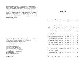 James Montgomery Boice, Philipp G. Ryken: Die Lehren der Gnade
