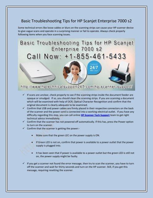 Basic Troubleshooting Tips for HP Scanjet Enterprise 7000 s2