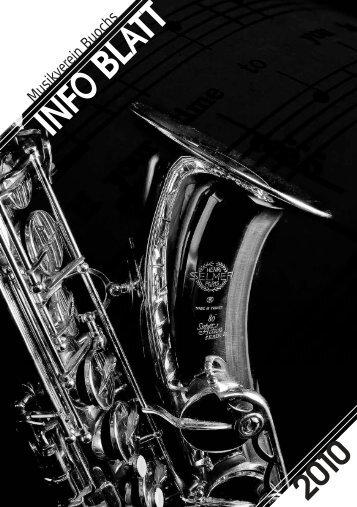 Infoblatt 2010 Musikverein Buochs